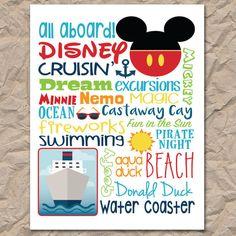Disney Cruise Subway Art - Digital / Printable File #disneycruise #subwayart