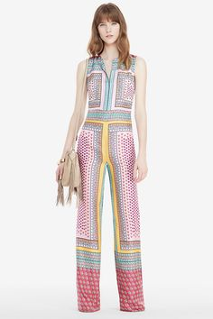 DVF Jalessa Printed Silk Jumpsuit | Landing Pages by DVF