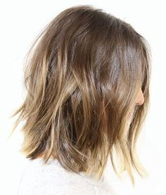 Subtle ombre highlights on light brown hair