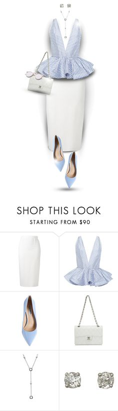 """Peplum top"" by elona-makavelli ❤ liked on Polyvore featuring Roland Mouret, Leal Daccarett, Steve Madden, Chanel and Tiffany & Co."