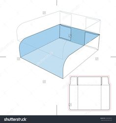 Cardboard Tray With Die Cut Layout Stock Vector Illustration 166559816 : Shutterstock