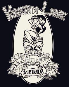 New t-shirt art for Kustom Lane Gallery Australia #kustomlanegallery by shawndickinsonart