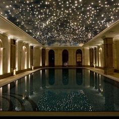 I think I would want this to be what my indoor pool looked like if I ever get that choice...it's like a starry night :)