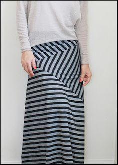 Stripe Play Maxi Skirt