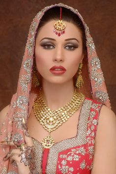 Pakistani Bridal Shoot by Alle`nora, Gallery of Alle`nora - Alle`nora Beauty Salons , Pakistan Bridal Makeup, Pakistani Hair Stylists
