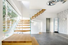 One of Sillers modern staircase designs. The combination of glass and wood, our favourite.