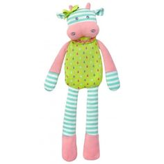 Organic Farm Buddies Belle Cow Plush Toy now at Corner Shoe Store