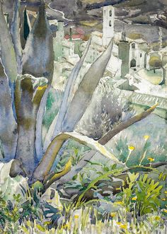 William Leech - Aloes - South of France, 1914 at National Gallery of Ireland Dublin Ireland (by mbell1975)