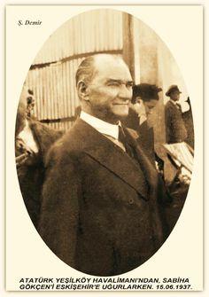 Atatürk Yeşilköy havalimanında. 15.06.1937