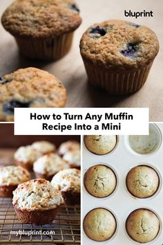 Here's How to Turn Any Muffin Recipe Into a Mini Breakfast On The Go, Mini Muffins, Muffin Recipes, Baking Ideas, Projects For Kids, Brunch, Hacks, Desserts, Crafts