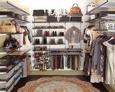 Something tells me that when we re-organize our closet, it's not going to look like this.  :/   But a girl can dream!