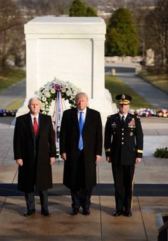 President-Elect Donald Trump & Vice President-Elect Mike Pence during the Wreath Laying Ceremony