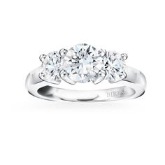 Birks Collection, 3-Stone Diamond Engagement Ring in 18kt White Gold