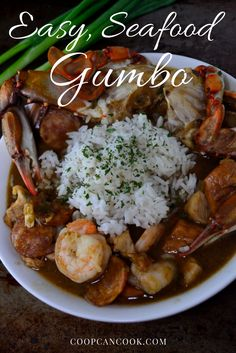Seafood Gumbo - Coop Can Cook - Seafood Recipes Louisiana Recipes, Cajun Recipes, Southern Recipes, Seafood Recipes, Cooking Recipes, Gumbo Recipes, Louisiana Seafood, Creole Recipes, Haitian Recipes