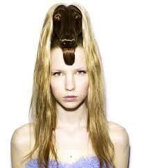 Resultado de imagen para raros peinados