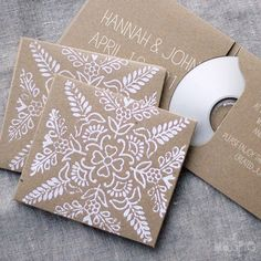 Lovely DIY CD Cover | DIY sleeves & wallets can be found at groovehouse.com