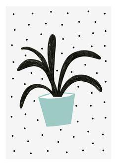 Planta Verde print 8 x 11.5 A4 by Depeapa van depeapa op Etsy