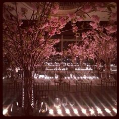 cherry blossoms as wedding centerpieces. absolutely gorgeous #instylemagazine