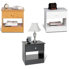 Simplify your life with the sleek One-drawer Nightstand. With minimalist looks and maximum storage, this bedside table will help de-clutter your bedroom.