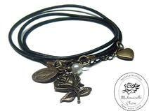Armband echt Leder - vintage betende Rose Claire, Etsy, Bracelets, Vintage, Jewelry, Handmade, Wristlets, Schmuck, Leather