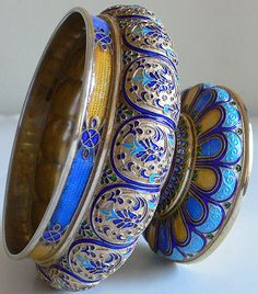 Russian Guilloche Enamel Silver A. Kuzmichev Tiffany 1880s✖️FOSTERGINGER AT PINTEREST ✖️ THANKS TO MY 10,000 FOLLOWERS✖️