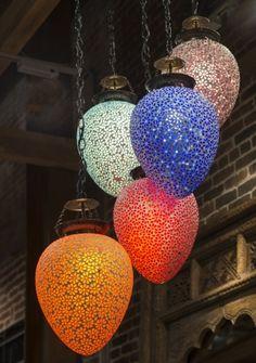 Moroccan glass lanterns -- colorful - beautiful