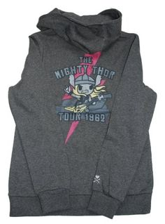I need this - tokidoki X Marvel Women Thor World Tour Dark Grey Heather  Hoody  4f283f10e