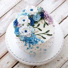 Bolos florais e suculentos Por Ivenoven Será que eles são reais - Bolos de casamento - cuteweddingideas.com