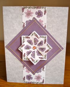 Tea bag folded card. Origami Cards, Origami Paper Folding, Fancy Fold Cards, Folded Cards, Card Making Tips, Making Ideas, Scrapbook Cards, Scrapbooking, Iris Folding