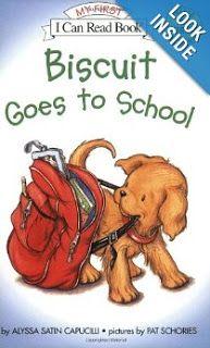Busy Bee Speech: Biscuit Goes to School FREEBIES
