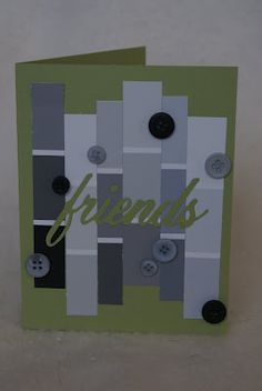 Awesome site! Love the paint chip and button combo - great use for all those odd buttons! Tons of great card ideas too! :)