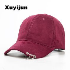 b6b72e2eded Xuyijun 2017 winter unisex solid Ring Safety Pin curved hats baseball cap  men women Suede snapback caps casquette gorras