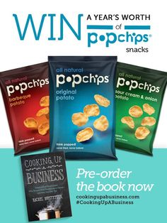 win a year's worth of #popchips to celebrate the book we're featured in, #CookingUpABusiness