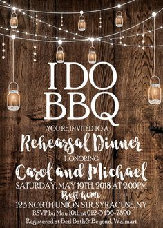 Bbq Rehersal Dinner invitation Bbbq Couples Shower Invitation Bbq garland lights party Invitations DIGITAL FILE ONLY 1691 Caroline&DinnerIdeas 2nd Birthday Invitations, Couples Shower Invitations, Dinner Invitations, Engagement Party Invitations, Printable Invitations, I Do Bbq, Light Garland, Couple Shower, Youre Invited