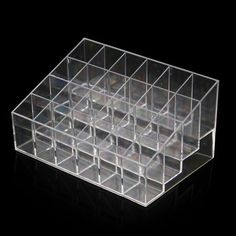 Clear Acrylic 24 Lipstick Holder Stand Cosmetic Organizer Makeup Case BP for sale online Makeup Display, Cosmetic Display, Lipstick Organizer, Lipstick Holder, It Cosmetics Brushes, Makeup Cosmetics, Clear Acrylic Makeup Organizer, Cosmetics Display Stand, Makeup Organization