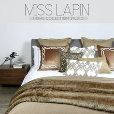 MISS LAPIN新古典/酒店样板房床品套件多件套/金色咖色十三件套-淘宝网