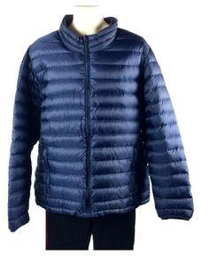 Nordic Track Mens Dk Blue Packable Down Jacket Sz XXL Lightweight Coat &…