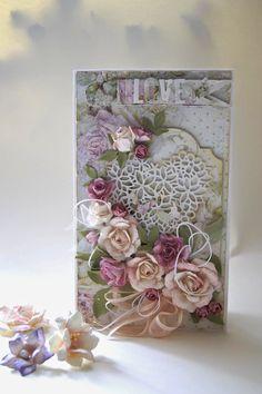 Kartkowy Świat Gosi: Ślub w różach...