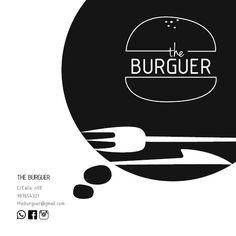 Tarjeta The Burguer_mi diseño de la tarjeta de visita de esta nueva hamburguesería ficticia en el centro de Valencia ^^