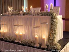 dekoracja ślubna z gipsówki