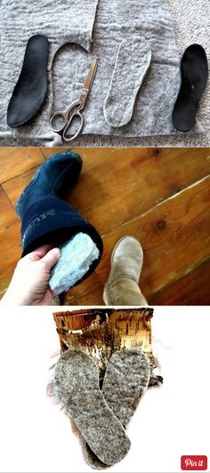 Make any boots or shoes thermal for the winter: wool inserts. Can buy this batting, matting, whatever it's called at Walmart, Joann Fabrics, etc. Especially nice for peeps like me who get cold easily. Come spring, I will take out the inserts, wrap individually in tissue paper, stack in a plastic bag and store them with my sweaters.