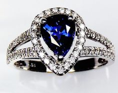 Untreated blue sapphire ring AIGS Certified 18 by SapphireRingCo