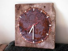 Rustic Rusty Rotary  Saw blade and Reclaimed Barn by RocksErStuff