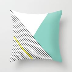 MINIMAL COMPLEXITY Throw Pillow by Three Lives Left - $20.00