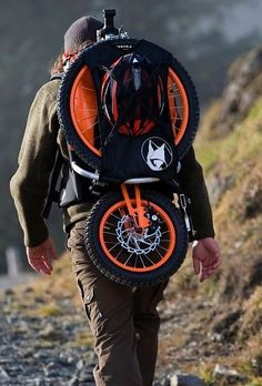 A German company came up w/ specialized bikes for mountain climbers. 'Bergmönch' aka 'Mountain monk'. Great idea!