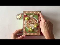Graphic 45 Twas the Night Before Christmas and Core'dinations Cardstock Mini Album - YouTube
