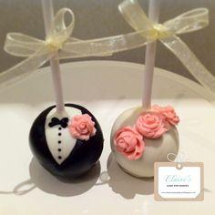 Wedding cake pops by Elainescakepopbakery, via Flickr
