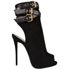 GIUSEPPE ZANOTTI Suede Peep Toe Booties (4.465 HRK) ❤ liked on Polyvore featuring shoes, boots, ankle booties, heels, giuseppe zanotti, ankle boots, black, black heel booties, suede ankle boots and black suede bootie