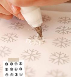 How to make snowflakes for decoration.