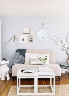 If you're dealing with a little living room, it doesn't mean you can't have a super stylish (and functional) space